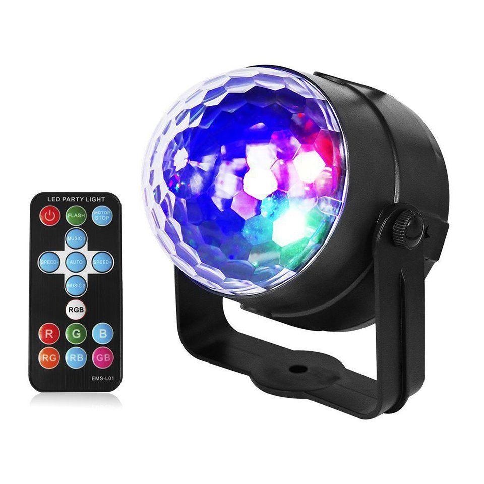 Mini RGB LED Crystal Magic Ball Stage Effect Beleuchtung Auto Sound Aktivierte DJ Lichter mit Remote LED Lampe Birne Party Disco Club DJ Light Show