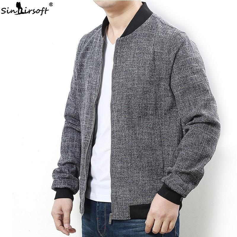 Baumwollbeiläufiges Patchwork Jacket Men Crew Neck Rib Sleeve Tops Male Plus Size L-7XL loser bequemen 2020 Summer Fashion Coat