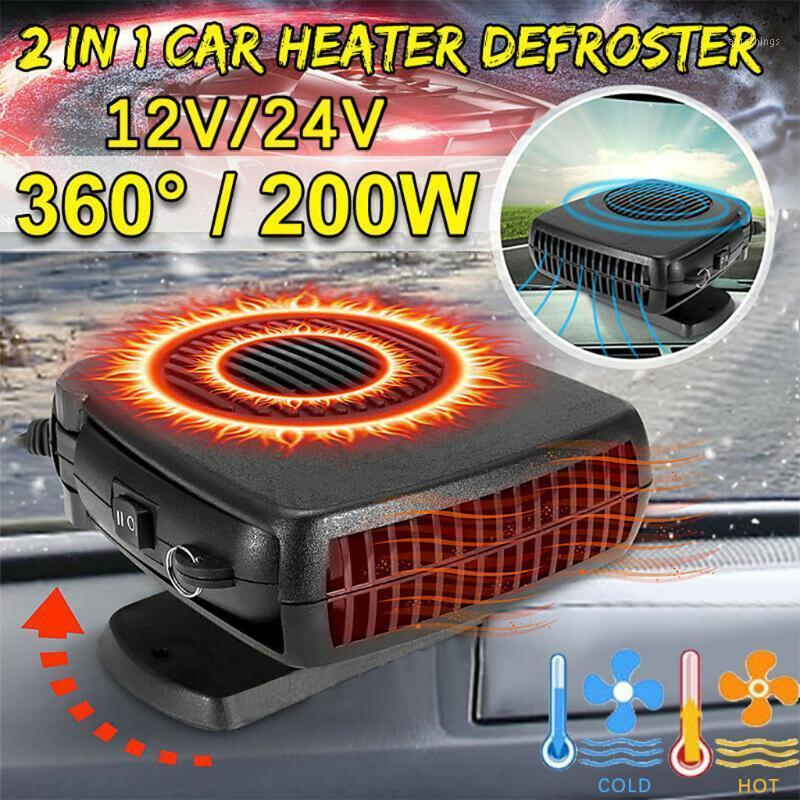 Car Fans Fan Heater 12V Portable Auto Electric Heating Cooling Defroster Demister Air Blower For Winter1