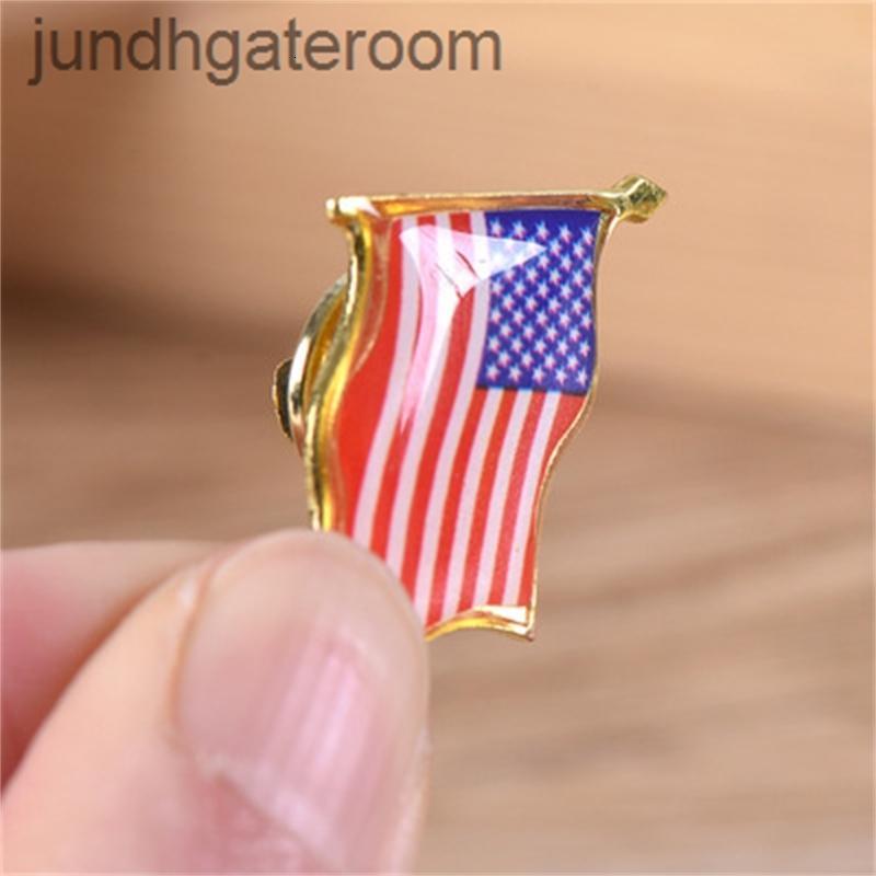 Estados Hot Pin Venda Americana Bandeira Unida Lapela EUA Chapéu Gravata Tack Badge Pins Mini Broches Para Roupas Bags Decoração