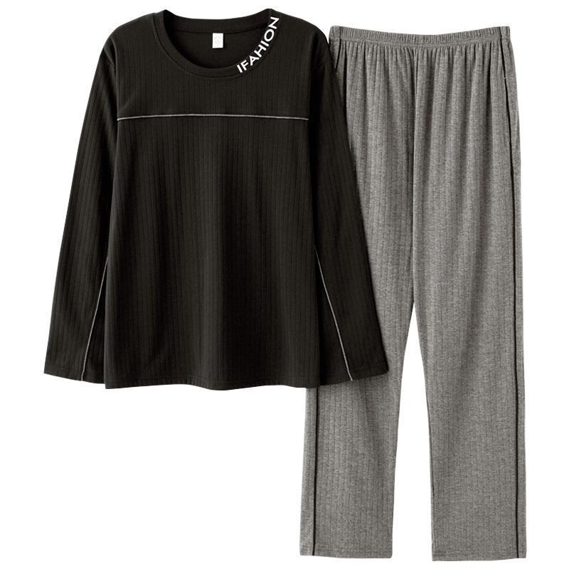 Весна Осень Homesuit Homeclothes пижамы Мода Стиль Повседневный стиль Пижама Набор Длинные рукава Длинные брюки Твердые виды спорта
