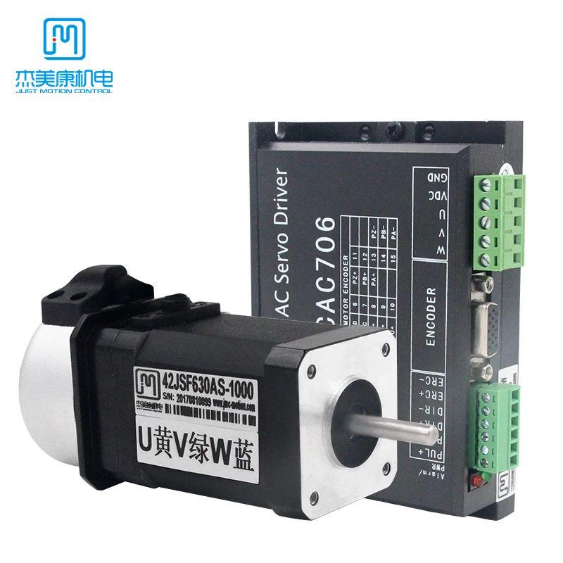 JMC 64W 24VDC 0.2n.m NEMA17 Brushless DC Servo Motor Driver Kit 1000 linea 3000RPM 42JSF630AS + MCAC706