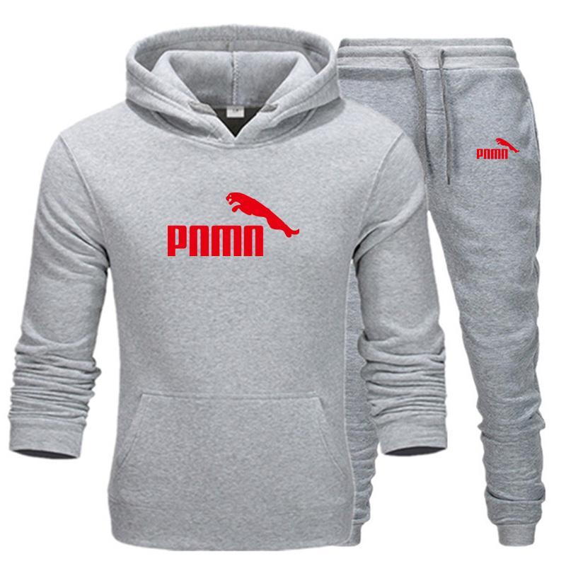 2020 Novo Outono e Inverno Masculino Homens Hoodie + Calças Harajuku Terno de Esportes Marca Casual Esportes Camisa De Camisa Título Sportswear
