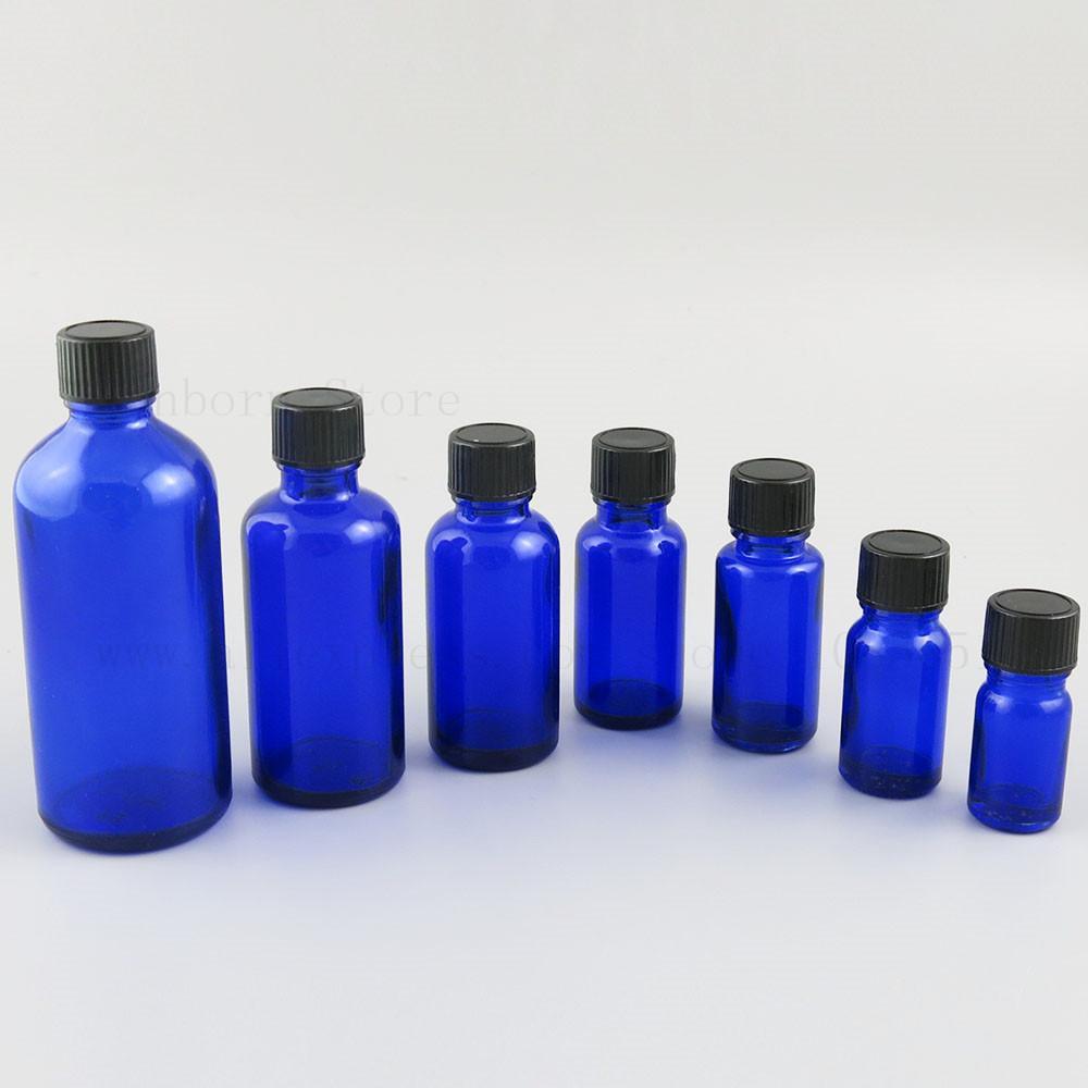 에센셜 오일 블루 그린 유리 병 용기 5/10/15/20/30/50/100 ml 샘플 리필 병 20pcs