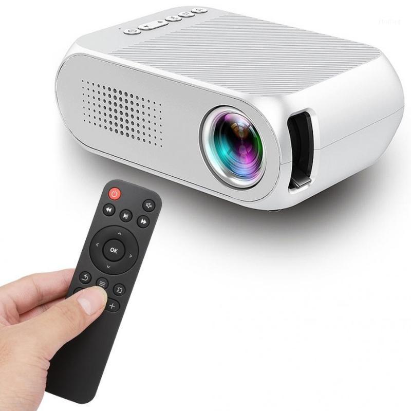 Home Mini LCD Projector USB Portable Home Theater Player HD 1080P Cinema System Audio with Remote Control 100-240V White1