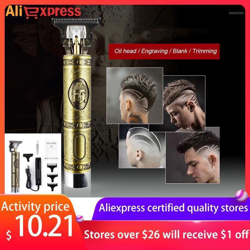 Cappertador de cabelo recarregável Barbear Metal restaurando as maneiras antigas que escultura escultura lâmina cabeleireiro cabelo o trimmer buddha t tipo1