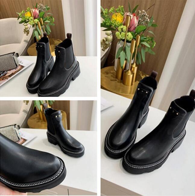 Womens plana tobillo de arranque clásico de la manera BEAUBOURG tobillo botas de zapatos de las mujeres botas de invierno muchachas de las señoras de seda de la piel de vacuno de alta Tamaño de superficie 37