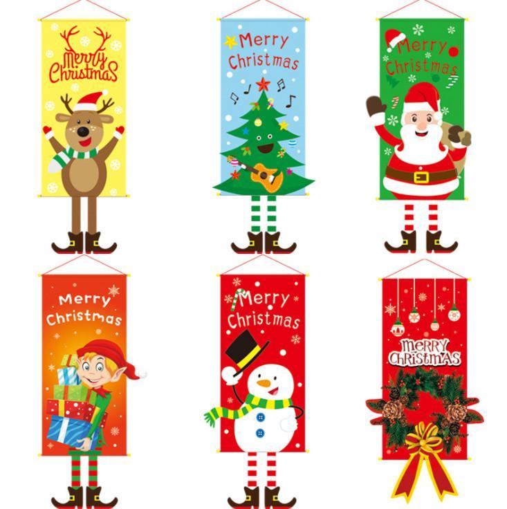أحدث النماذج هي في كثير من الاحجام، 80X50CM الحجم، عيد الميلاد القماش معلقة، شجرة عيد الميلاد، العفريت شنقا، حزب جدار زخرفة القماش توريدها