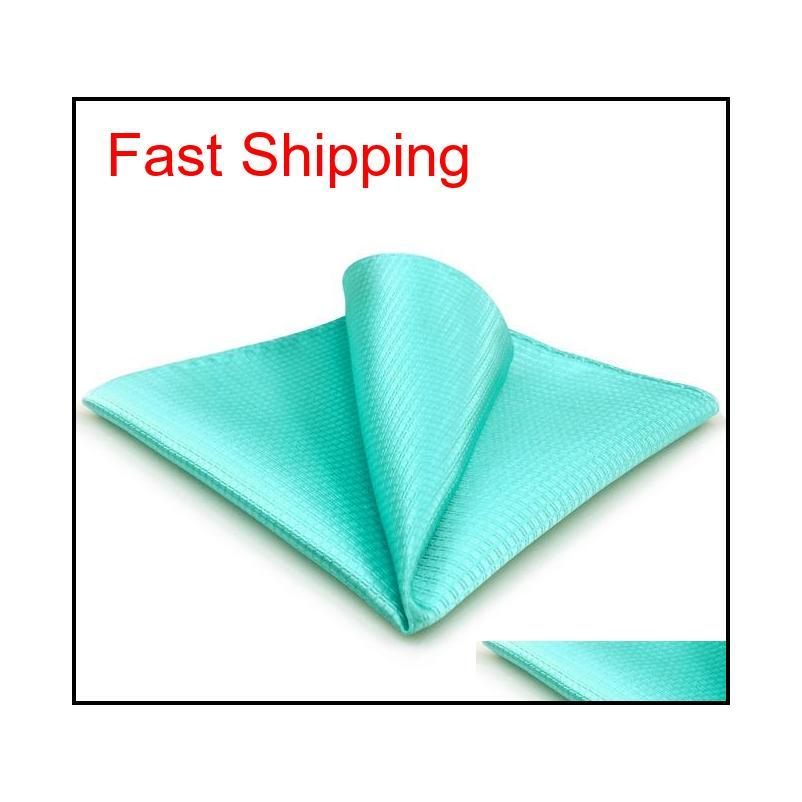 CH34 Aqua Silk Silk Mens Pocket Square Classic Classic Stand New Handkerchief Fashion Wedd Qylsge DH_Seller2010