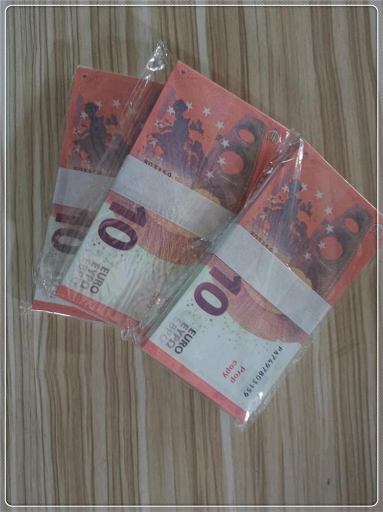 PLUS EURO Contrefaite Banque Banknote Money Party Le10-3 Étape 10 Contrefaites Bar Pop Atmosphère Toy UBBGQ