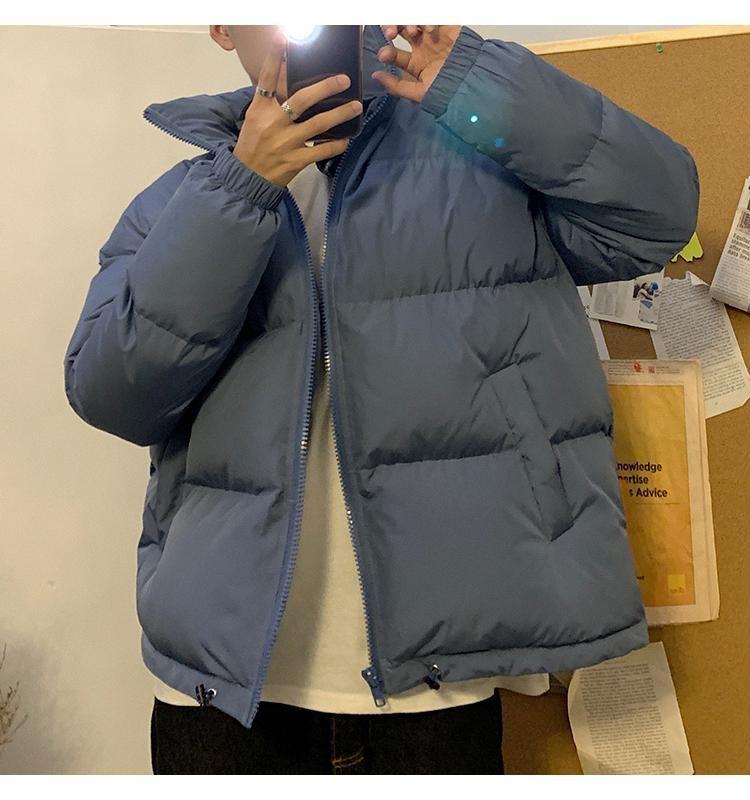Männer Bunte Winter Parkas Mantel Streetwear Hip Hop Taschen Dicke Jacken Männer Mode koreanische Puffjacke Tops