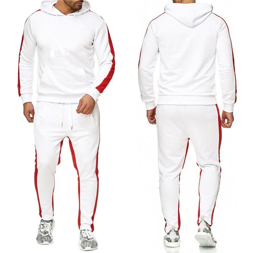 Vendita calda Set Sweatsuit Tracksuit Uomini Felpe con cappuccio Pantaloni da uomo Abbigliamento Abbigliamento Felpa Pullover Donne Casual Tennis Sport Tracksuit Suit Suit No.1p