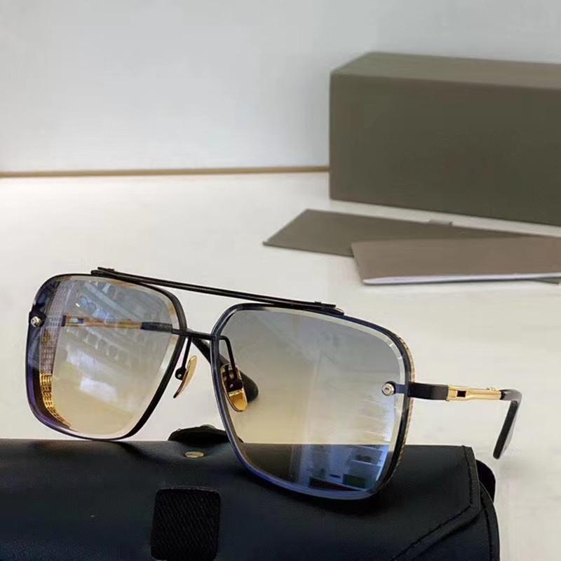 2021NEN Modello popolare M Sei occhiali da sole in metallo Vintage Style Style Sunglasses Square Frameless UV 400 Lenti Viene fornito con il pacchetto Stile classico