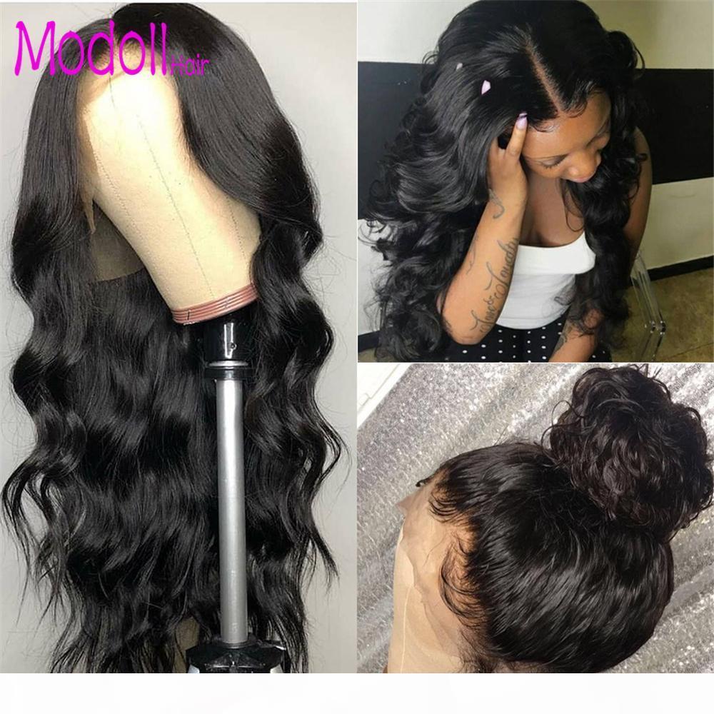 Parrucche di capelli umani anteriori in pizzo da 150 densità 13x4 Remy Brazilian Body Body Wave Parrucca anteriore del pizzo con i capelli del bambino per le donne nere