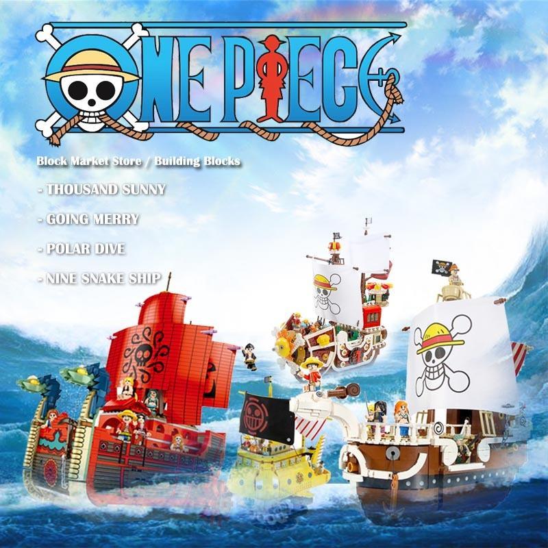 1484pcs Die Sunny Piraten-Schiffs-Modell-Building Blocks Creator Ein Stück Piraten-Schiffs-Boots-Ziegelstein-DIY Spielzeug Geschenke für Kinder Kinder 1008