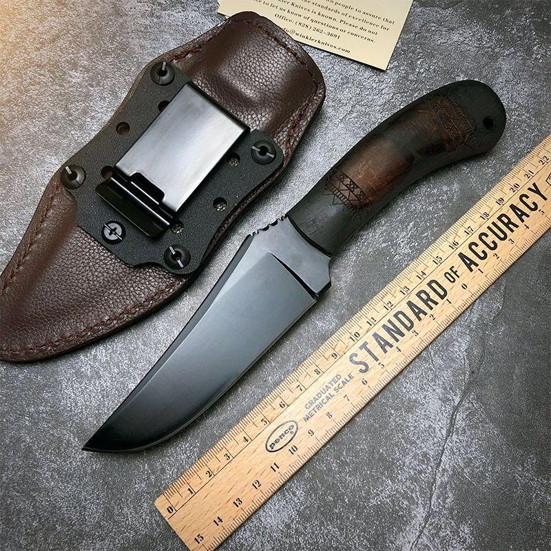 Горячий нож с фиксированным лезвием Камень промывают 80CRV2 Blade Black G10 Ручка Охотничьи Охотничьи Тест на выживание Тактические прямые ножи наружные инструменты