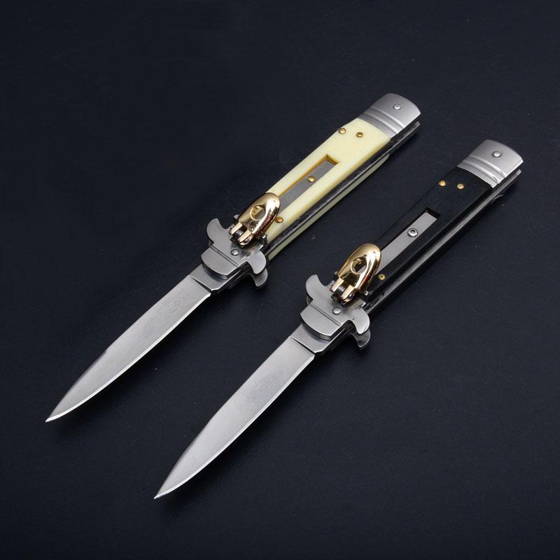 OEM мафиози плюс 9 дюймов leverletto 440 лезвие Natural Horn ручка карман ITA нож автоматический нож складной кемпинг ножи 1шт