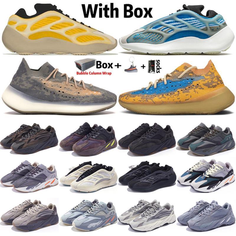 2020 Kanye West Azareth Srphym 700 V3 Erkek Kadın Koşu Ayakkabı Hastanesi Mavi Atalet Kükürt Asriel'e V2 Mavi Yulaf Alien 380 Eğitmenler Spor ayakkabılar