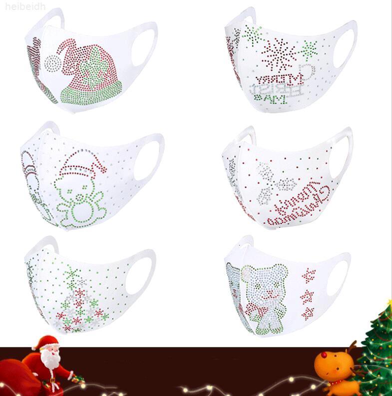 Für Designer Maske 2020 Kinder Erwachsene Mode Neue Weihnachten Gesichtsmasken Diamant Gesichtsmasken Waschbare Wiederverwendbare Mund Maske Seidengesicht MC1