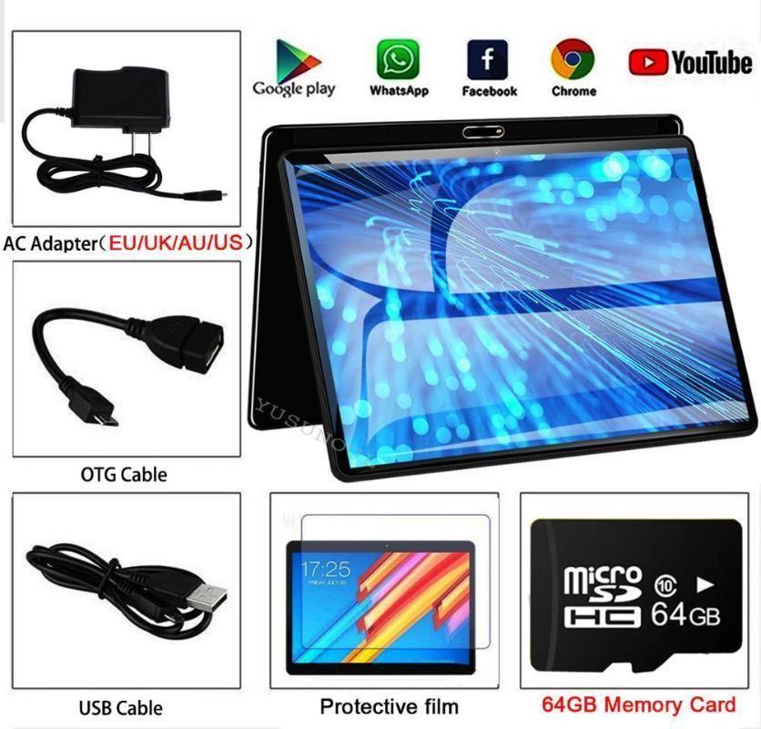Dernier design Livraison Gratuite 2.5d TP Dual Verre 10 pouces Android 9.0 Tablette IPS Screen Dual Sim Card Play Store GPS Tablet 10 10.11