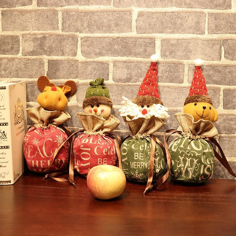 Быстрая перевозка груза 2020 Новый мультфильм Рождественский подарок конфеты сумки милый Рождество Apple, мешок подарков Рождественские украшения F9502