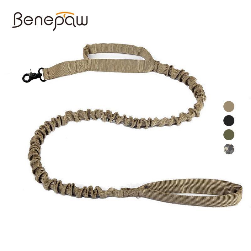 Benepaw Прочный нейлон Военные Банджи собаки поводок качества мягкий проложенный ручки Shock Ослаблению Обучение Pet Поводок с ручкой 1020
