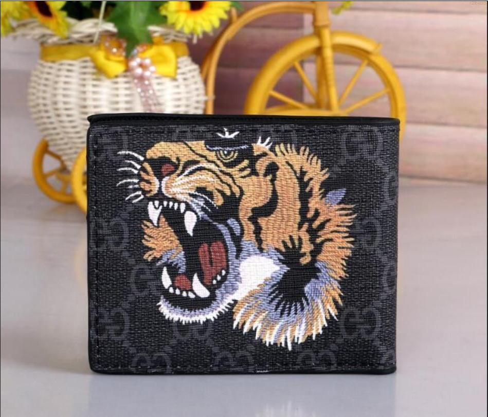 Hochwertige Männer Tier Kurze Leder schwarze Schlange Tiger Biene Wallets Frauen lange Art Portemonnaie XXX GAJ8 LV0U QVBW