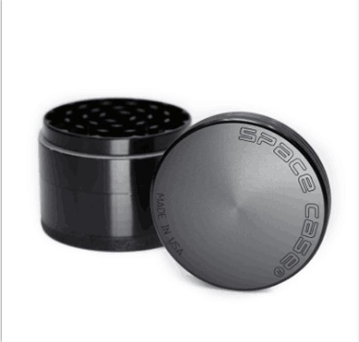 63mm 4pc CNC grinder Aluminum space case Grinder tobacco smoke cigarette detector grinding smoke Tobacco grinder free shipping