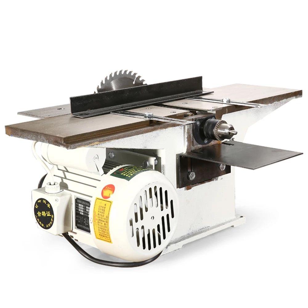 جديد وصول 2020 220V 2800r / دقيقة متعدد الوظائف النجارة مناشير سطح المكتب الكهربائية الخشب آلة إستواء و1.3KW للسيارات