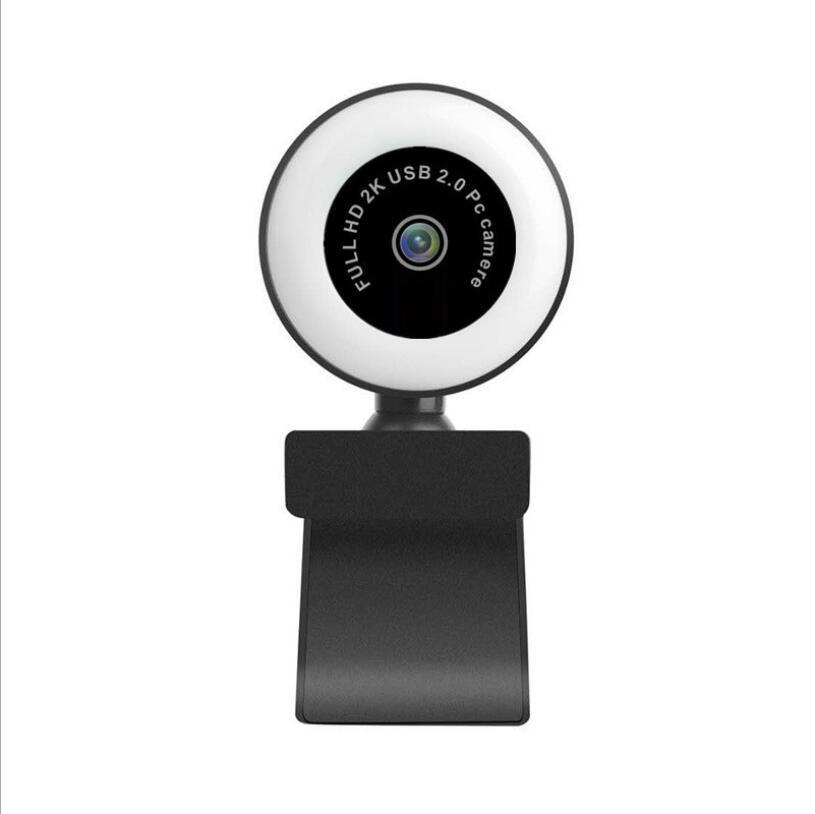 2K HD веб-камера с Ring Light красоты камеры Full HD 1080p Webcam с микрофоном Игры Веб-камеры для потокового видео совещания