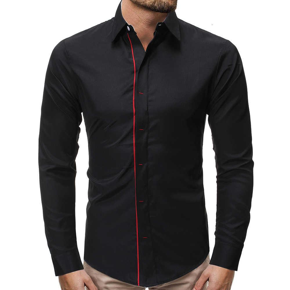 Business maschile 2020 Primavera New Fashion Casual Men Camicia Manica lunga Camisa Masculina Alta qualità