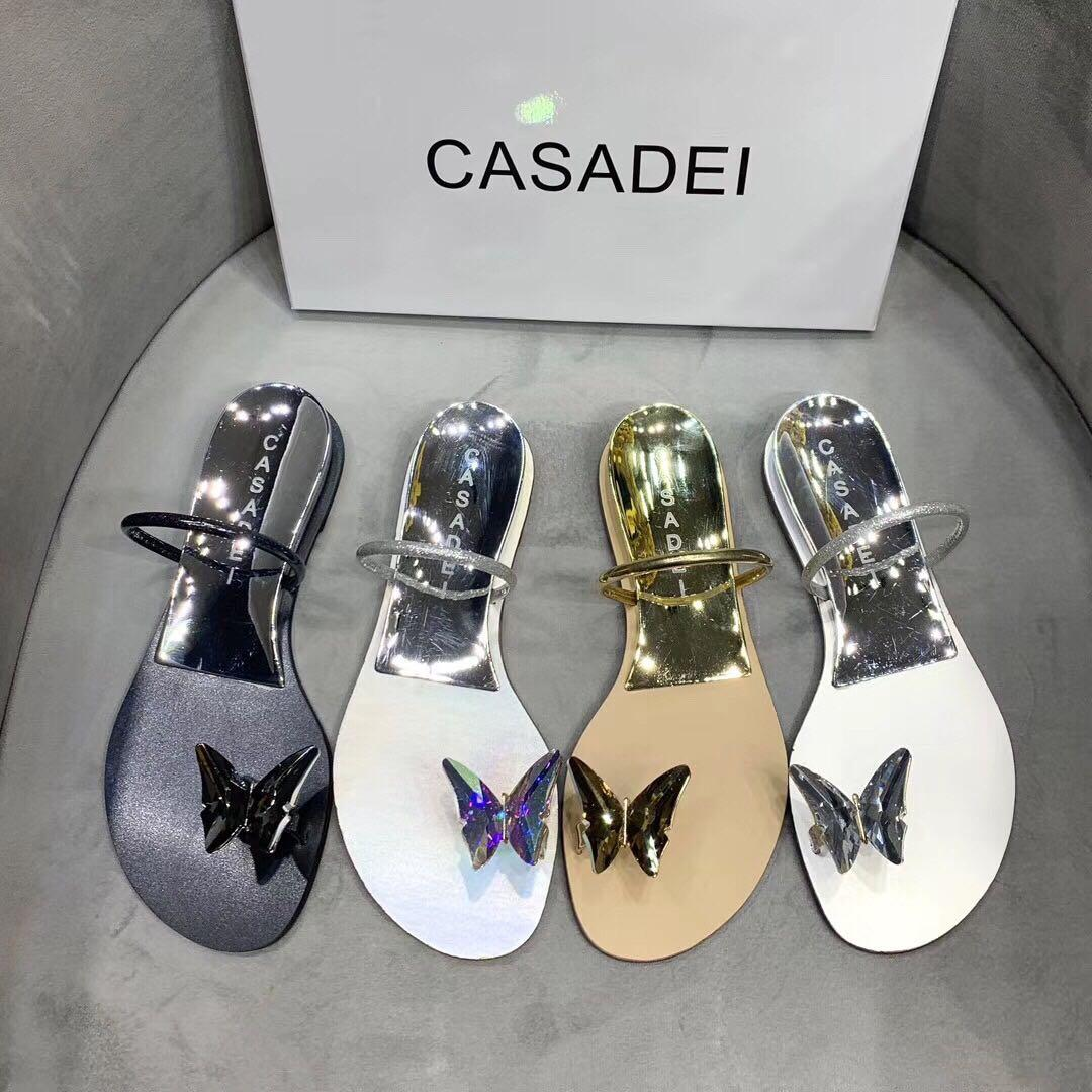 Exclusive new style sandals and slippers It's simple it's luxurious The Colorful Butterfly Clasp sparkles