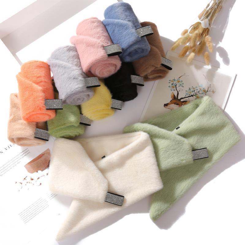 Szaliki jesień i zima Ciepły szalik Wszystkie pasujące wełniane grube kobiety mody studenckie futro