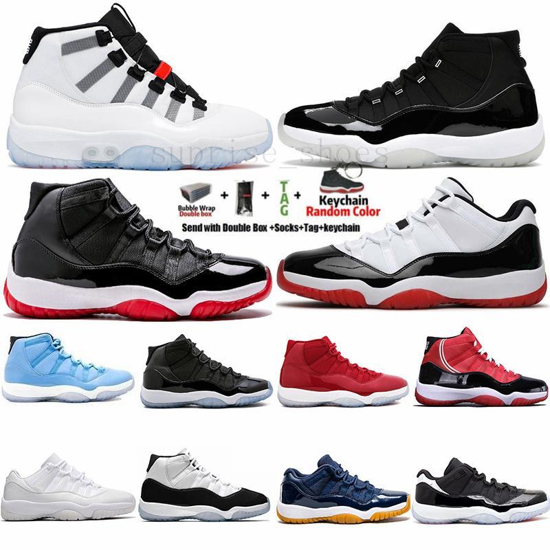 جديد التكيف 11 11 ثانية بيضاء منخفض كونكورد 45 bred 25th الذكرى الفضاء مرب بار البارونات رياضة رجالي أحذية كرة السلة الحمراء XI أحذية رياضية مع صندوق