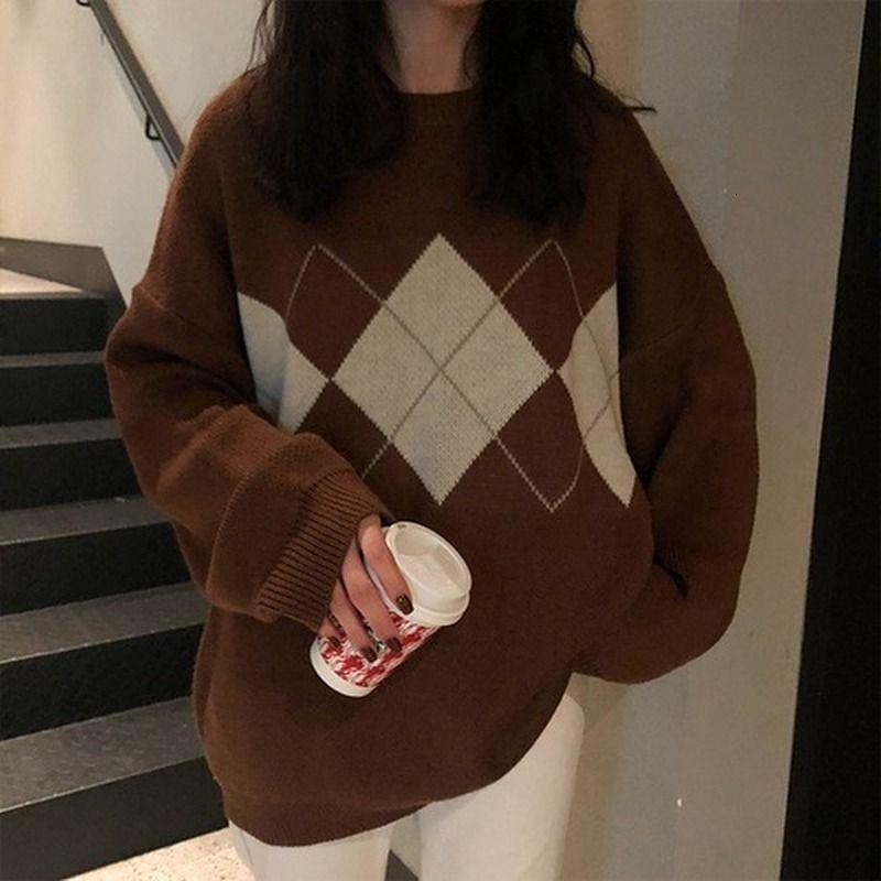 Ropa de invierno de lingge Troncos sueltos de las mujeres Abrigo superior Casual Trui Séter Mujer 2021
