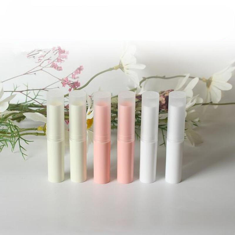 10 PC / Los 4ML leer Lippenstift Elfenbein Kunststoff Lippen Container Kleine kosmetische Lippenstift Gloss Sub-Abfüllung