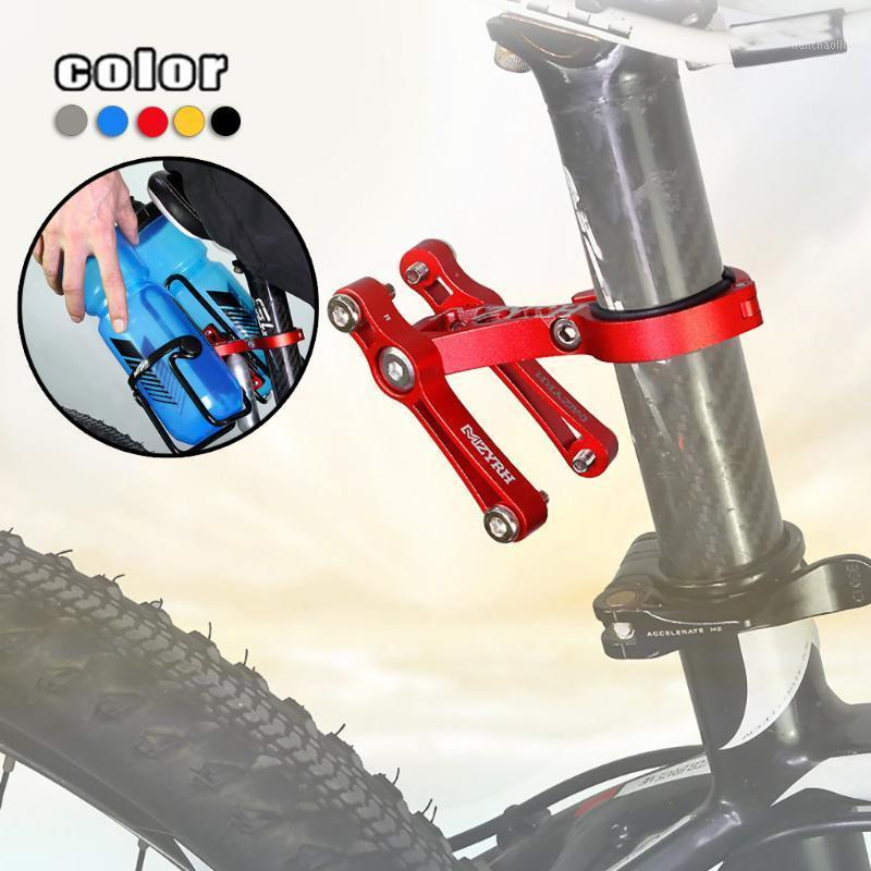 Aluminiumlegierung Fahrrad Radfahren Fahrrad Doppel Flaschenkäfig Einstellbare Wasserflasche Halterung Rack Halterung Für Mountainbike Käfig1