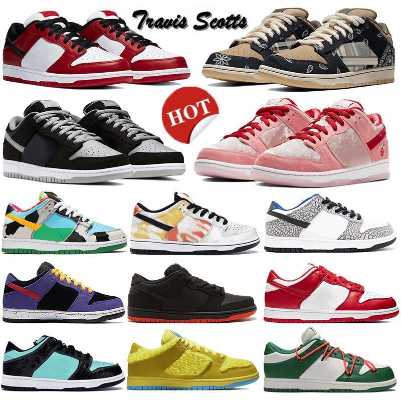 New Shadow Trd Qs Chunky Plataforma Dunky Baixa Skate Sean Chicago Travis Scotts Universidade Mulheres Vermelhas Homens Correndo Sapatos Esportivos Sapatilhas