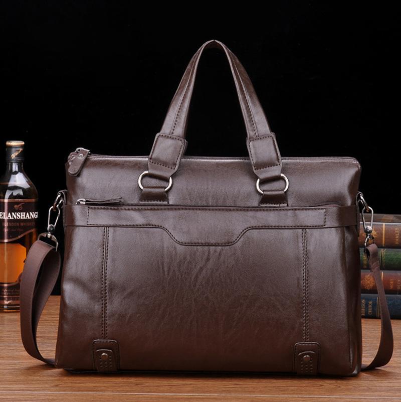 الرجال حقائب جلدية حقائب كمبيوتر محمول حقيبة خمر محمول حقيبة الذكور أكياس الكتف الكمبيوتر مكتب حقيبة محمولة للماء