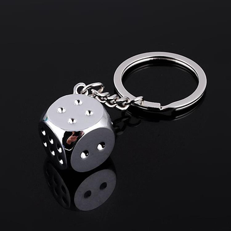 حر dhl الساخن سلاسل السوبر صفقة جديد الإبداعية مفتاح سلسلة المعادن حقيقية شخصية النرد سبيكة سلسلة المفاتيح للسيارة مفتاح حلقة trinket EEF4239