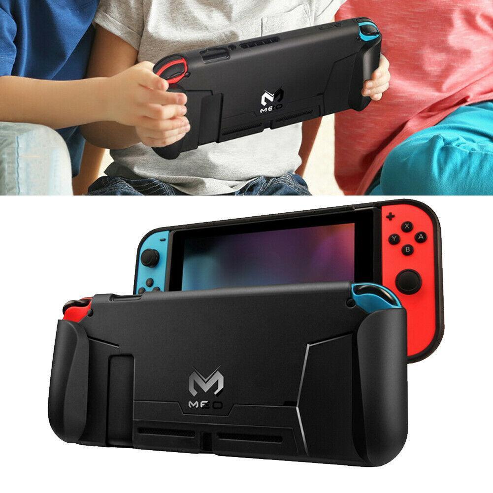 Nintendo anahtarı konsolu için kılıflar darbeye dayanıklı koruyucu kabuk silikon tpu kılıf ns kapak taban braketi montaj tutucu tam koruma standı
