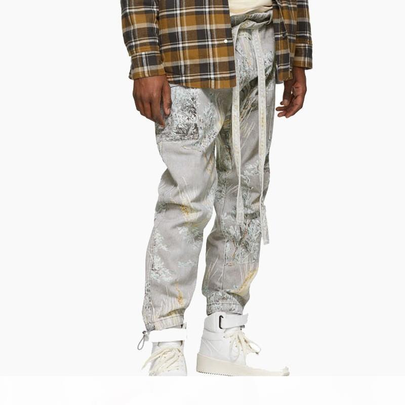 19SS Hip Hop StreetJIUJITSU Street Fashion PANTALON Skateboard Pantalons Sport Fitness Hip Hop piste Pantalons Sweatpants HFYMKZ157