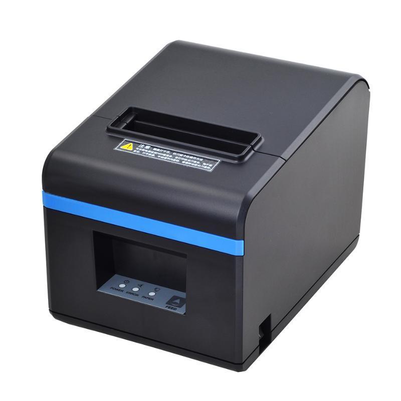 80мм Тепловой принтеров Принтер чековый принтер с автоматическим Cutter Bluetooth USB Ethernet порт для кухни Ресторан Магазина
