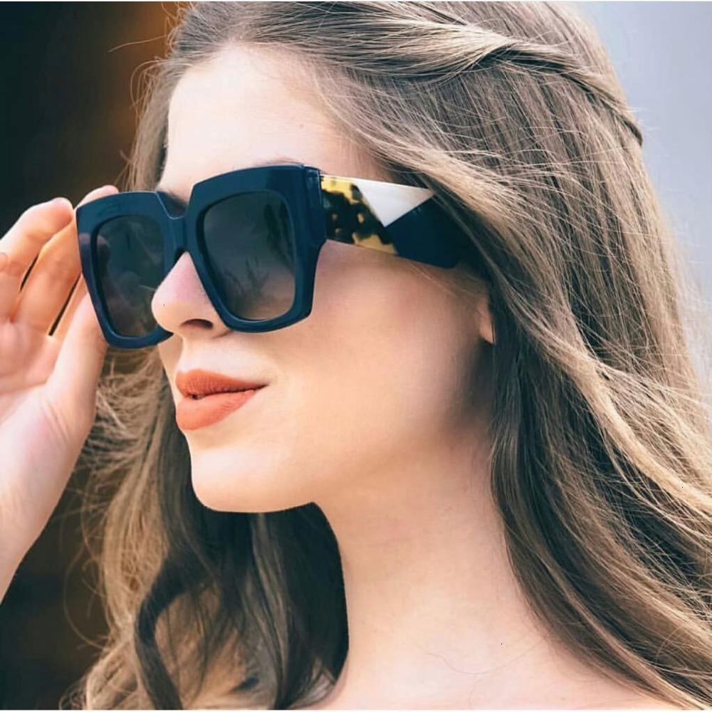 VCKA Oversize Sun Designer Fashion Det Black Occhiali da sole Occhiali da sole Donna Top Vintage Quadrato Brand Oculos Eyewear New Sol Fopan