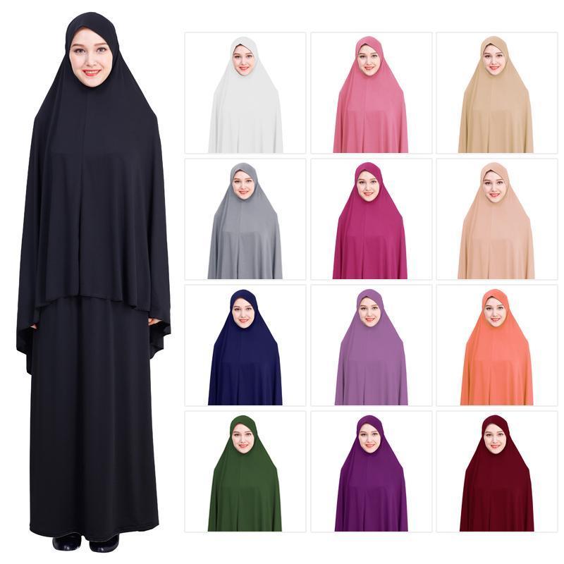 Formal Muslim Prayer Garment Sets Women Hijab Dress Islamic Clothing Dubai Turkey Namaz Long Prayer Musulman Jurken Abaya Kimono