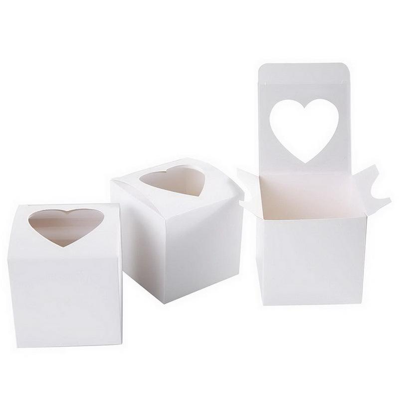 Boîte de cupcake Simple PVC Cupcake Boîte de coiffes Singles Cupcake Boîte pour Candy Cadeau 217 J2