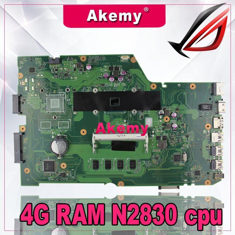 AkemyX751MA Laptop motherboard For Asus X751MA X751MJ X751M K751M X751 Test original mainboard 4G RAM N2830 cpu