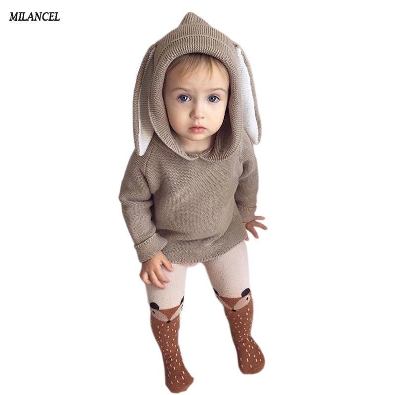 Winterboys свитер зайчик пуловер детские девочки вязаный свитер кротки джемперы детские девушки зимняя одежда 201103