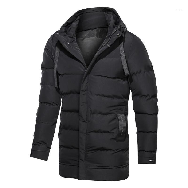 Parka Men Winter Slim Jacket Casual Streetwear Coat Mens Solid Quilted Jackets Korean Style Hooded Puffer Coats Windproof Parkas1