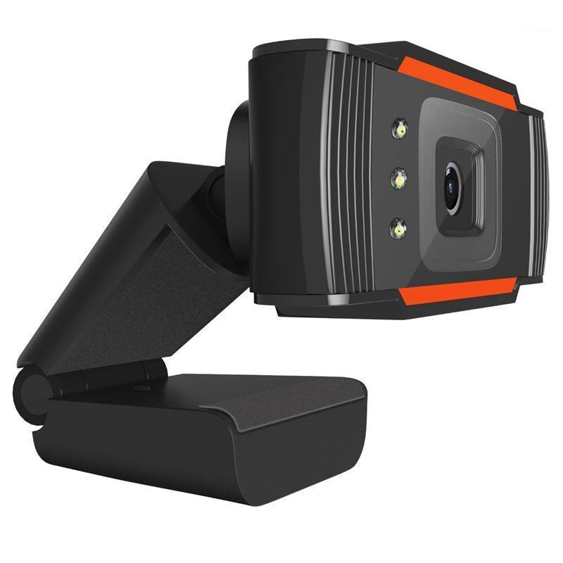 Webcams HD Câmera incorporado som absorvendo microfone webcam usb vídeo rotativo monitoramento doméstico Absorção PC Camera1